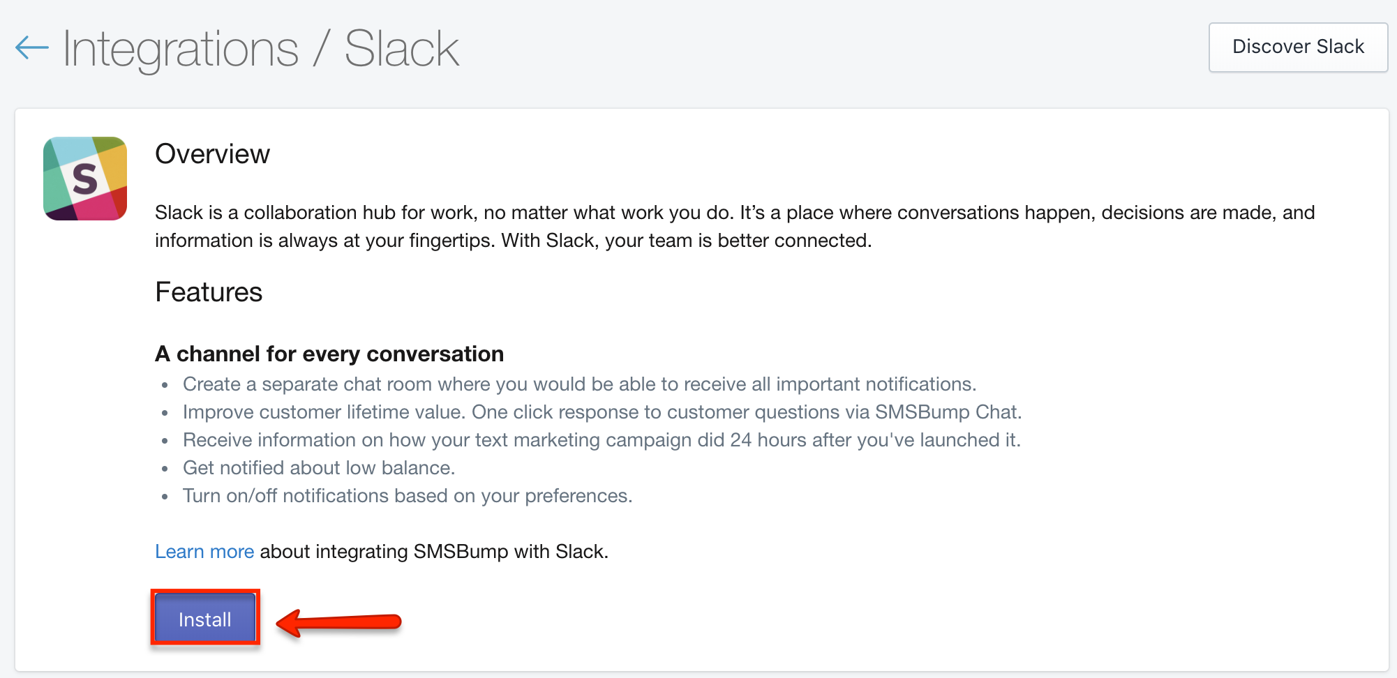 Knowledge Base | How to Install and Configure Slack in SMSBump