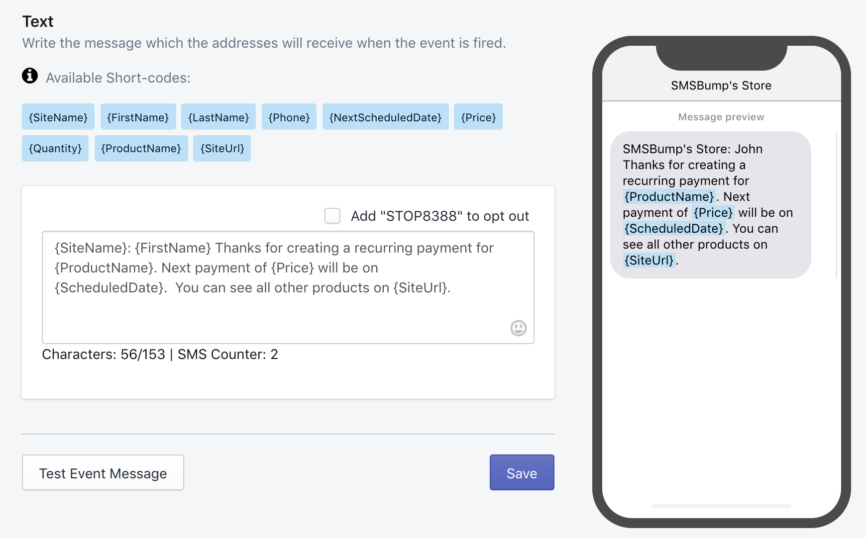 text-message-recurring-billing-successful-SMSBump