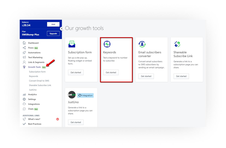 growth_tools_keyword_SMSBump