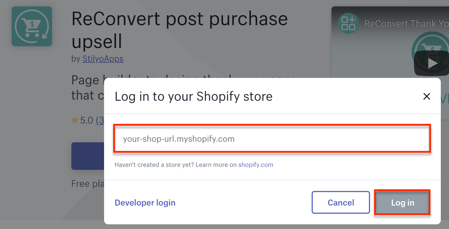 log-in-shopify-store-reconvert-smsbump