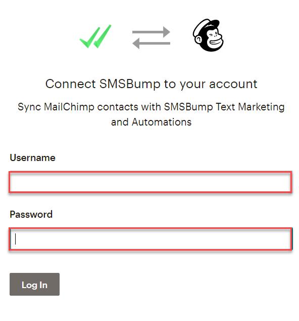 password_username_mailchimp_SMSBump