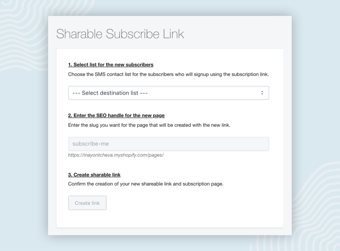 sharable-subscribe-link-growth-tools-SMSBump
