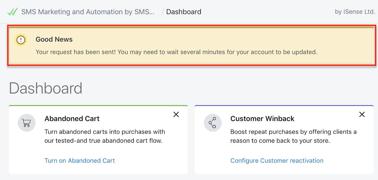 good_news_request_sent_keyword_SMSBump