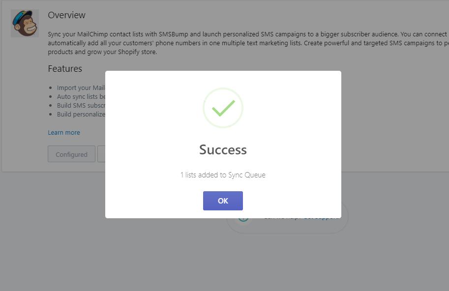 success_mailchimp_SMSBump