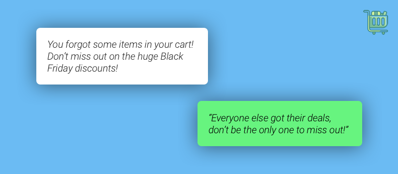 Black Friday SMS Marketing Abandoned Carts