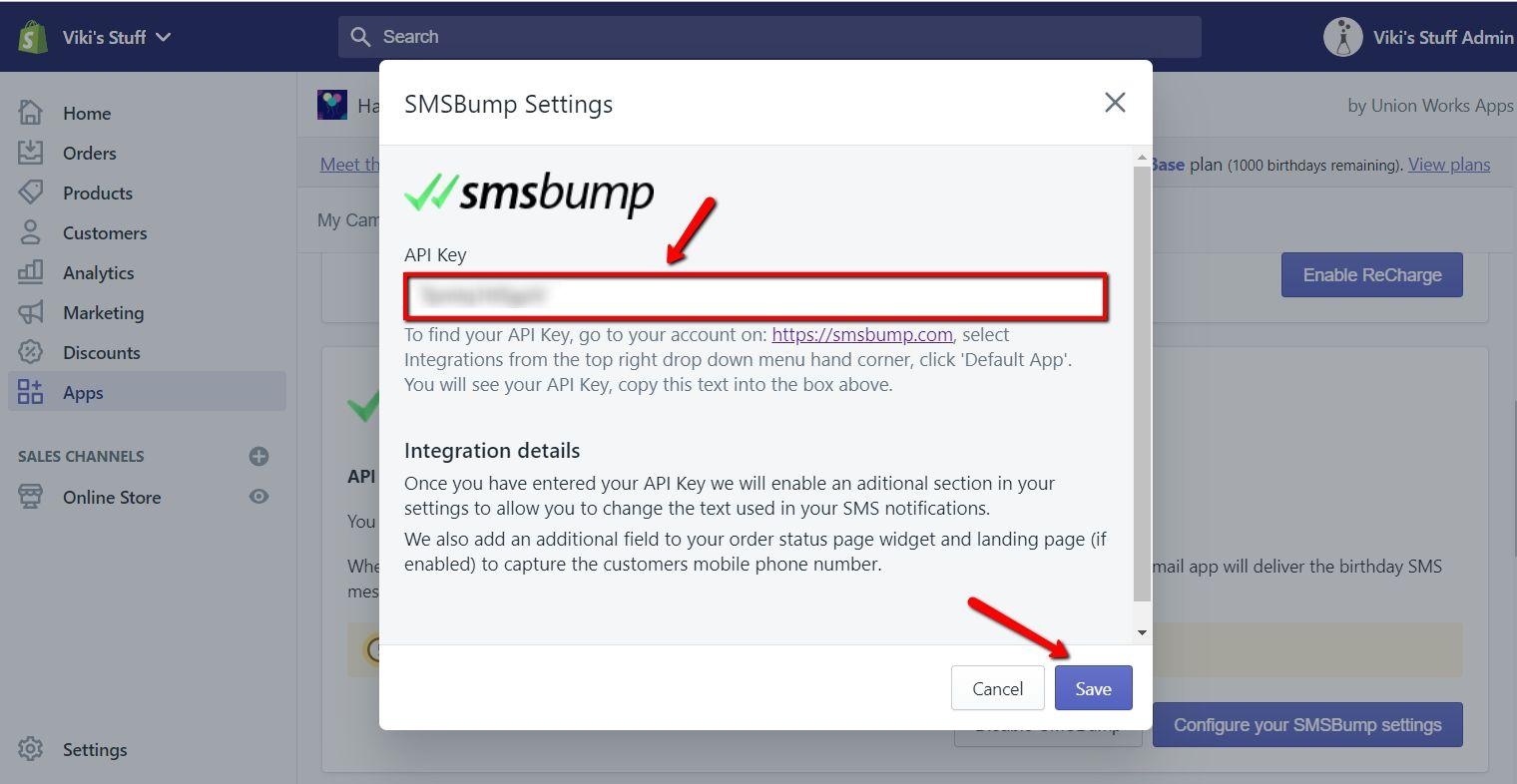 api_key_input_SMSBump