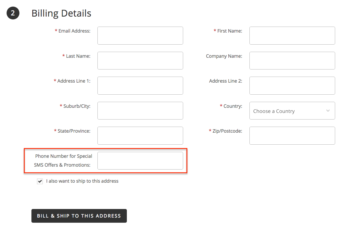 Get Phone Number on BigCommerce Checkout