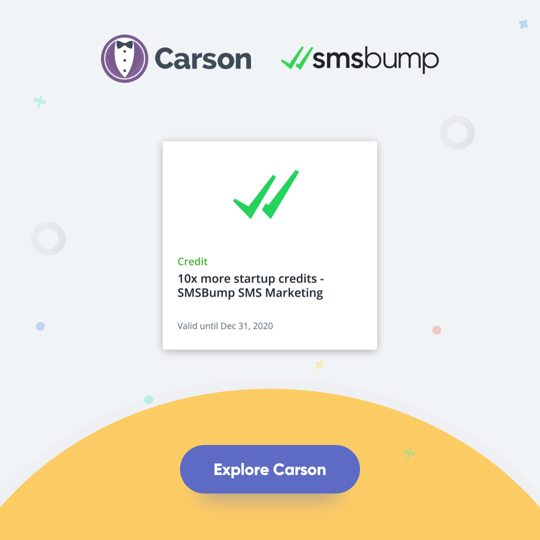 Carson Ecommerce and SMSBump Exclusive Offer Announcement