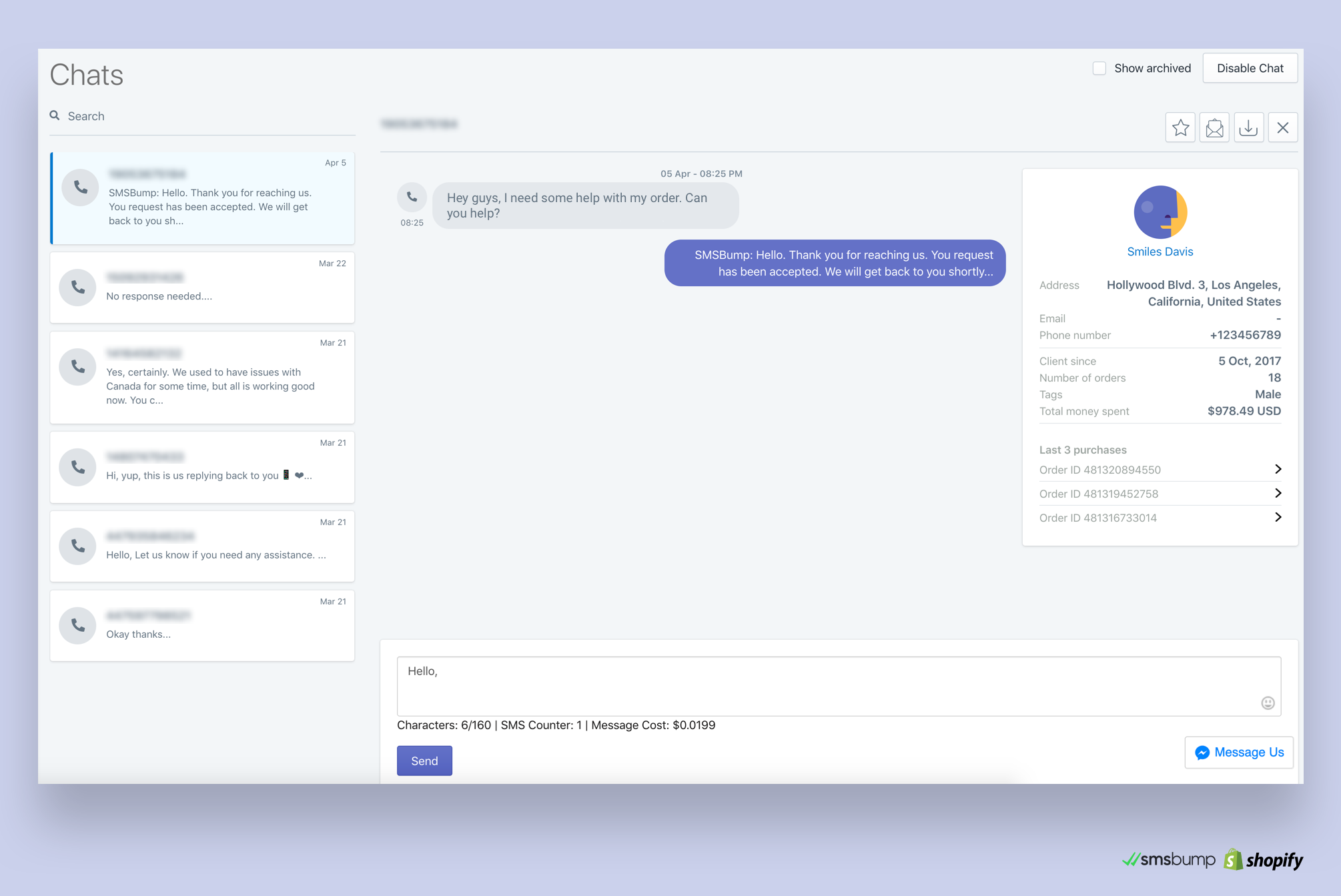 Use Customer Data to Drive Better SMS Chat Support in Shopify