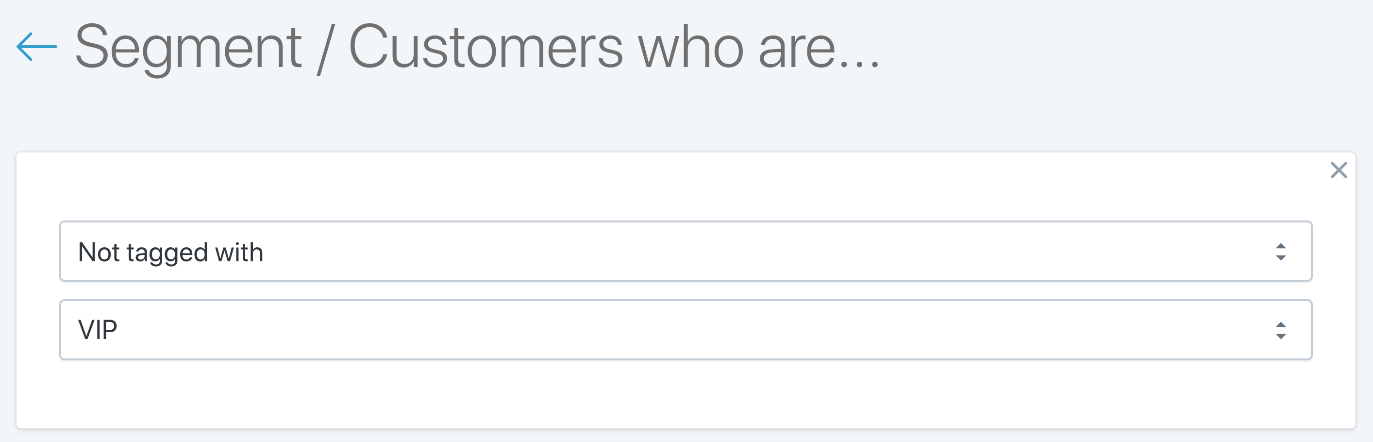 SMS Customer Segments: Customers not tagged with customer tags