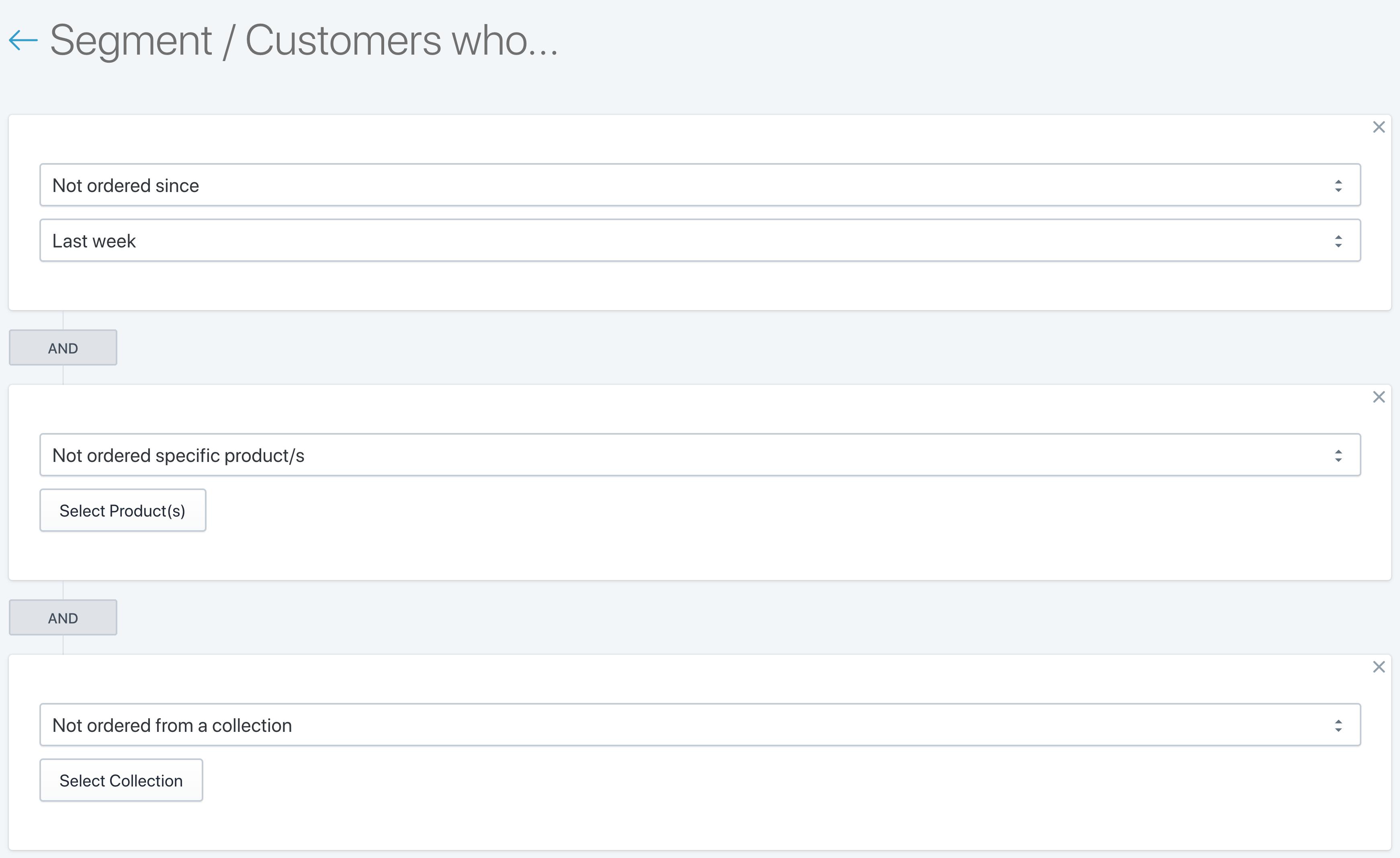 SMSBump Customer Inactivity Segments