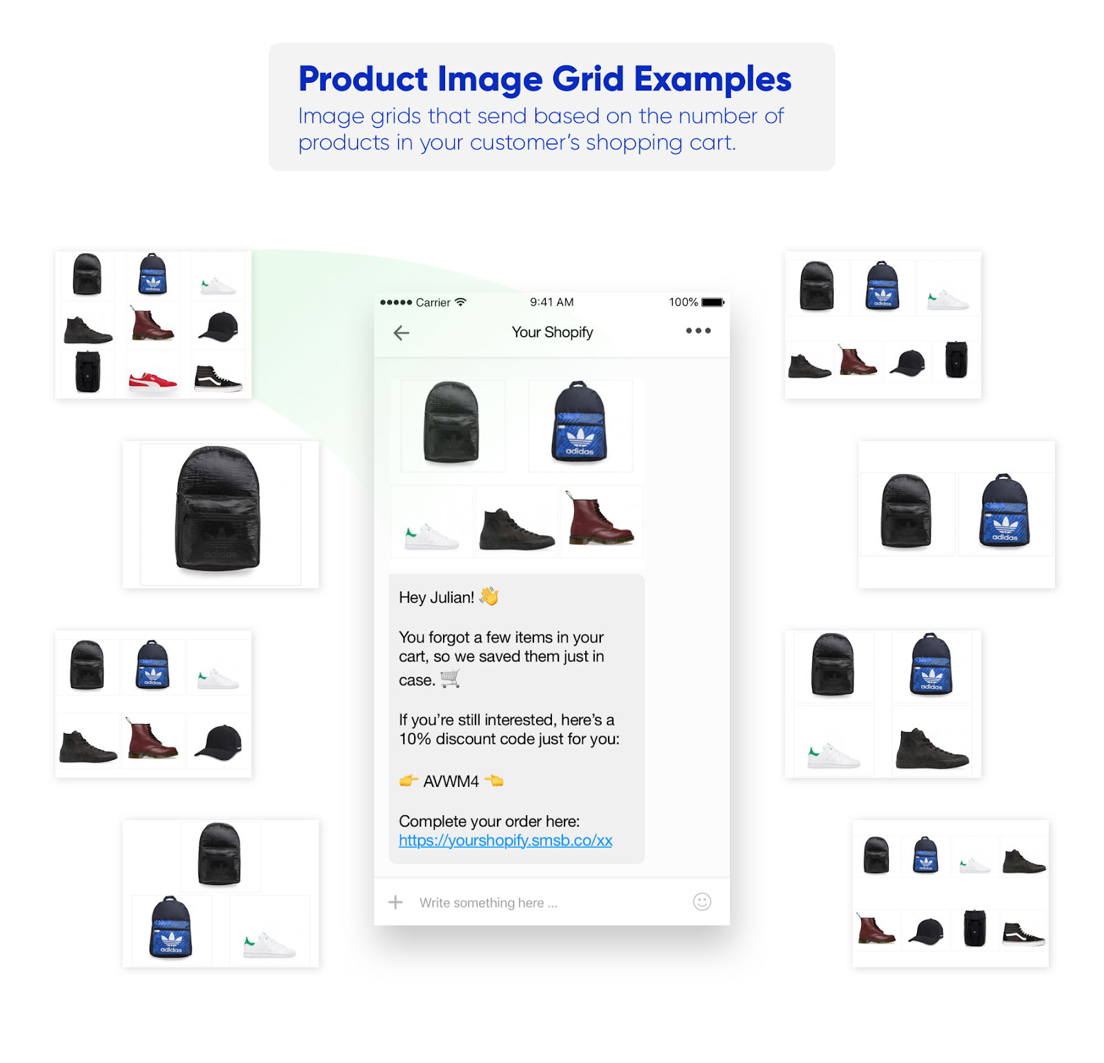 Image Grid Examples SMSBump New Feature