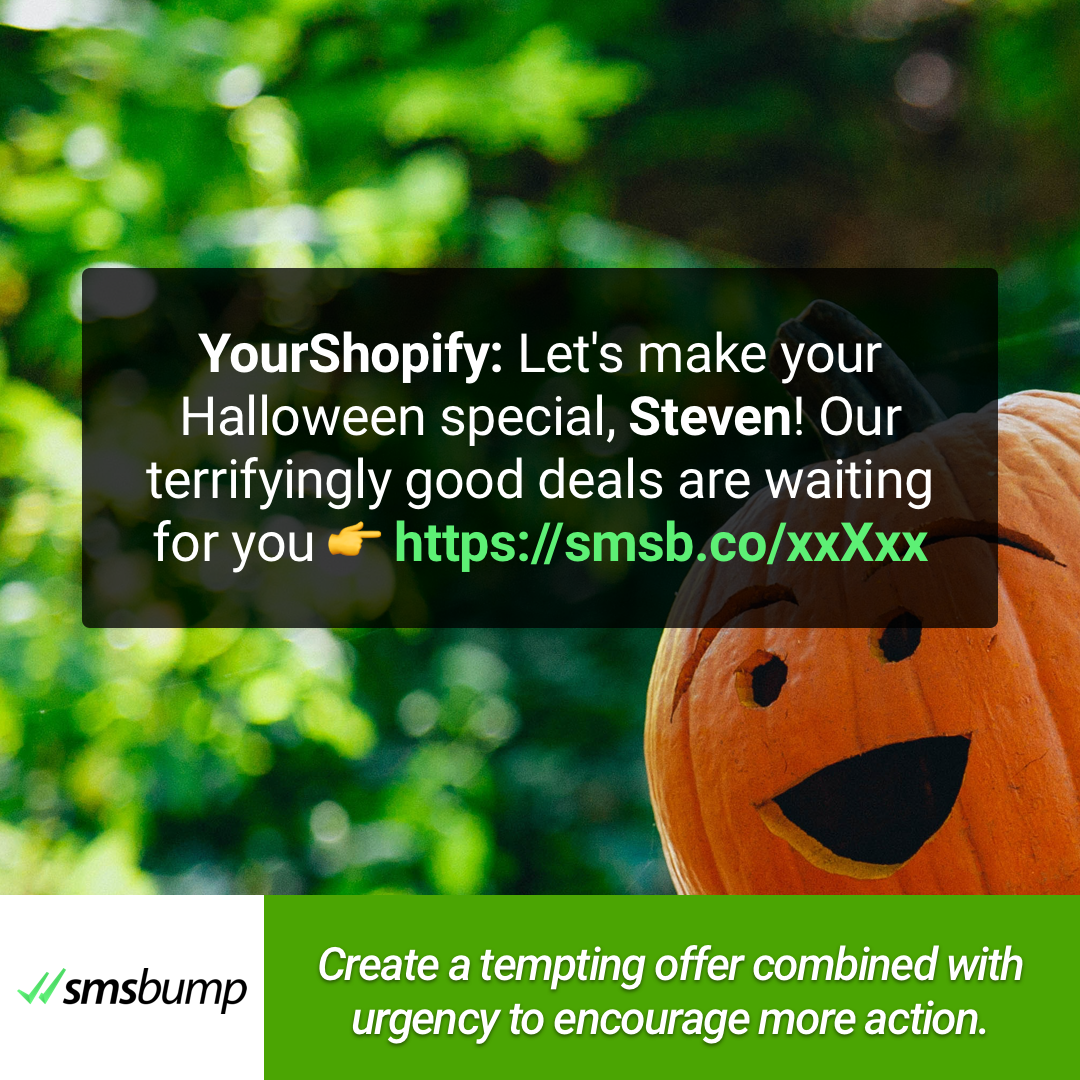 Create a tempting offer combined with urgency to encourage more aciton.