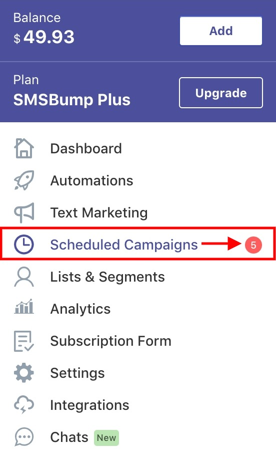 SMSBump Scheduled Campaigns | How to Access and Overview Your Scheduled SMS Marketing Campaigns in Shopify