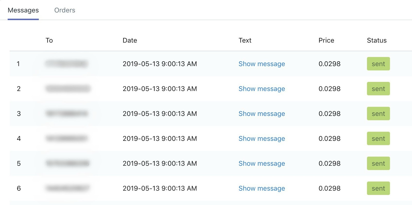 SMSBump Automation Analytics | Latest Text Messages from All Automations