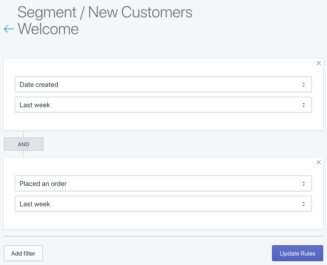 SMSBump Segment for New Customers in Shopify