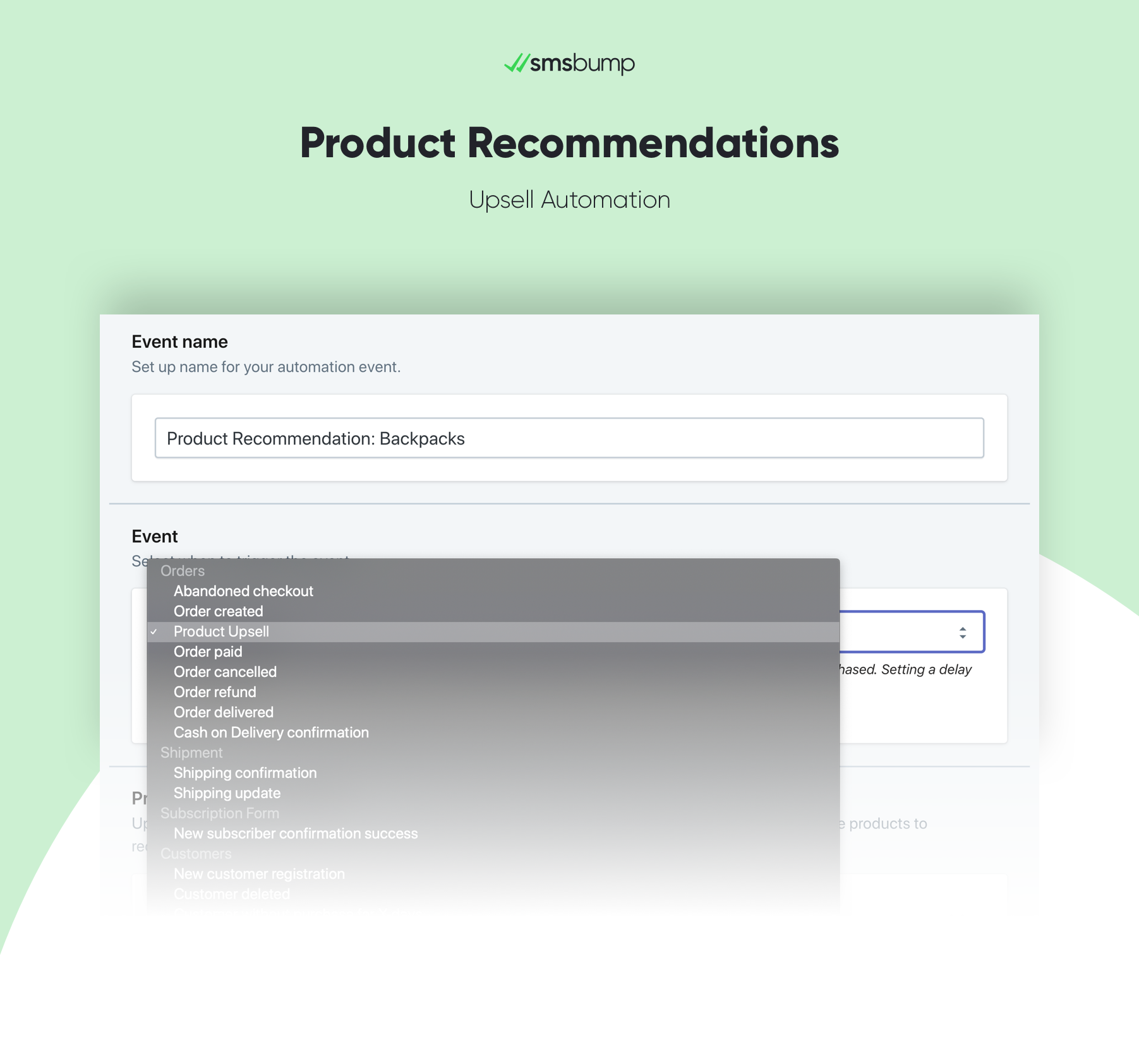 Introducing the new Product Upsell SMSBump Automation for Shopify!