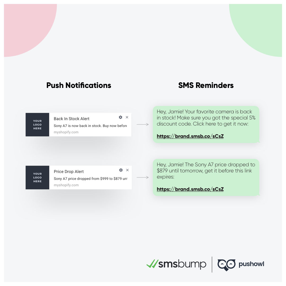 PushOwl and SMSBump Partnership: Push notification automations and marketing campaigns.
