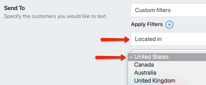 Select the Country for Your SMS Marketing Campaign in Shopify