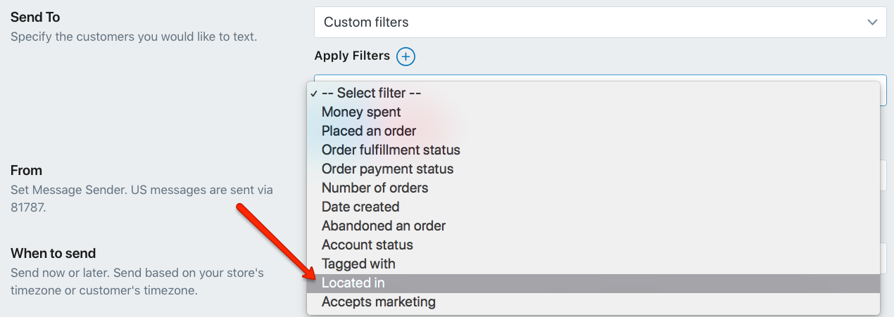 Select Country to Narrow Down Your Shopify Target Audience