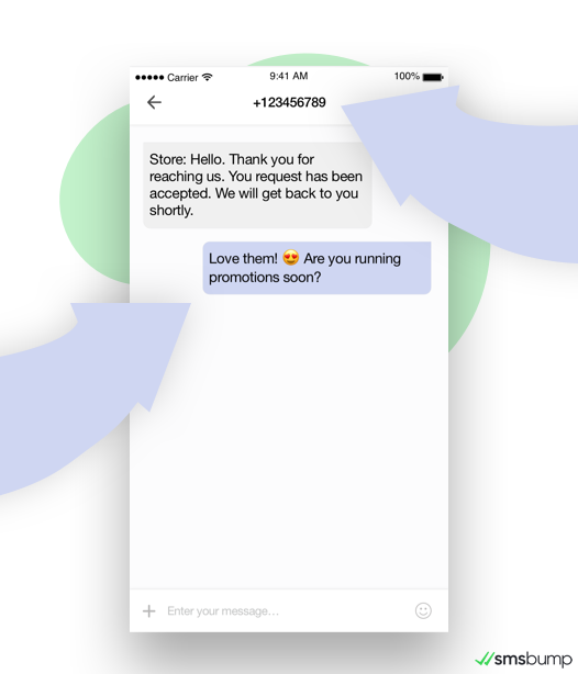 SMS Chat: Customer replies to Shopify store text message