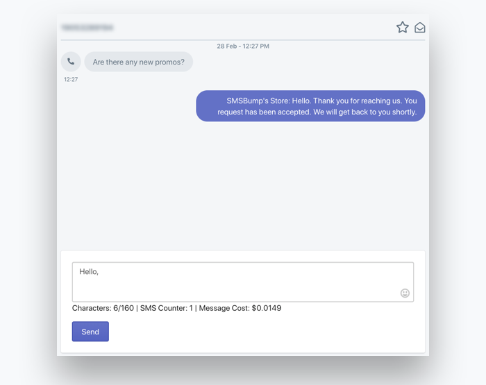 SMS Chat: Conversation Example