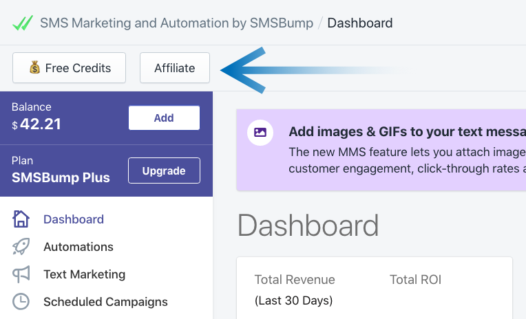 Become an SMSBump Affiliate in Shopify