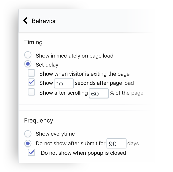 SMSBump Popup Signup Form Custom Behavior for Shopify