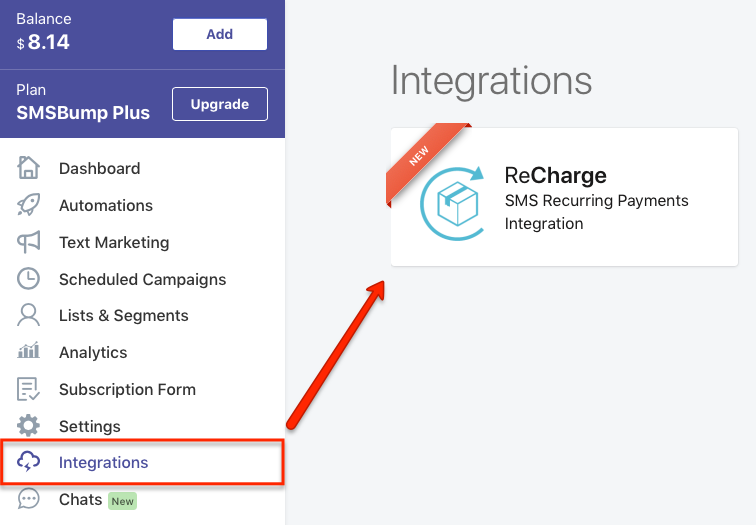 SMSBump ReCharge Integration for Shopify