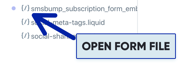 SMSBump Embed Form Open Subscription Form Liquid File