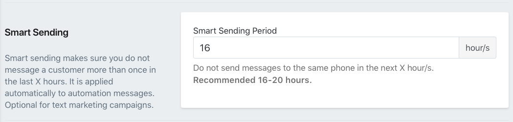 Shopify SMSBump Smart Sending