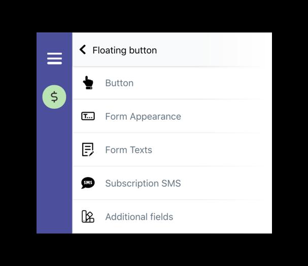 New SMSBump subscription form editor.