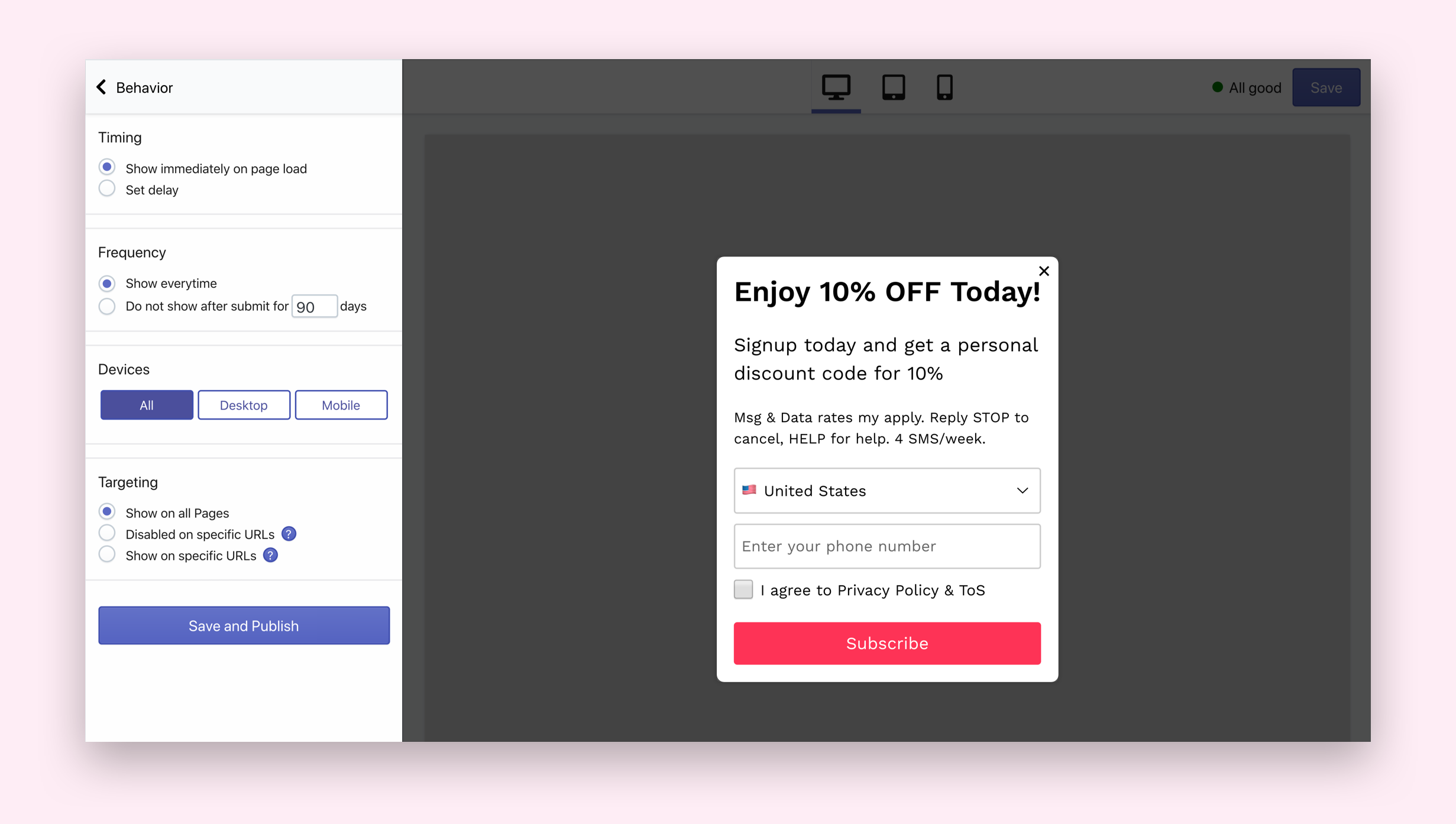 How to Create an SMSBump Signup Form Popup in Shopify