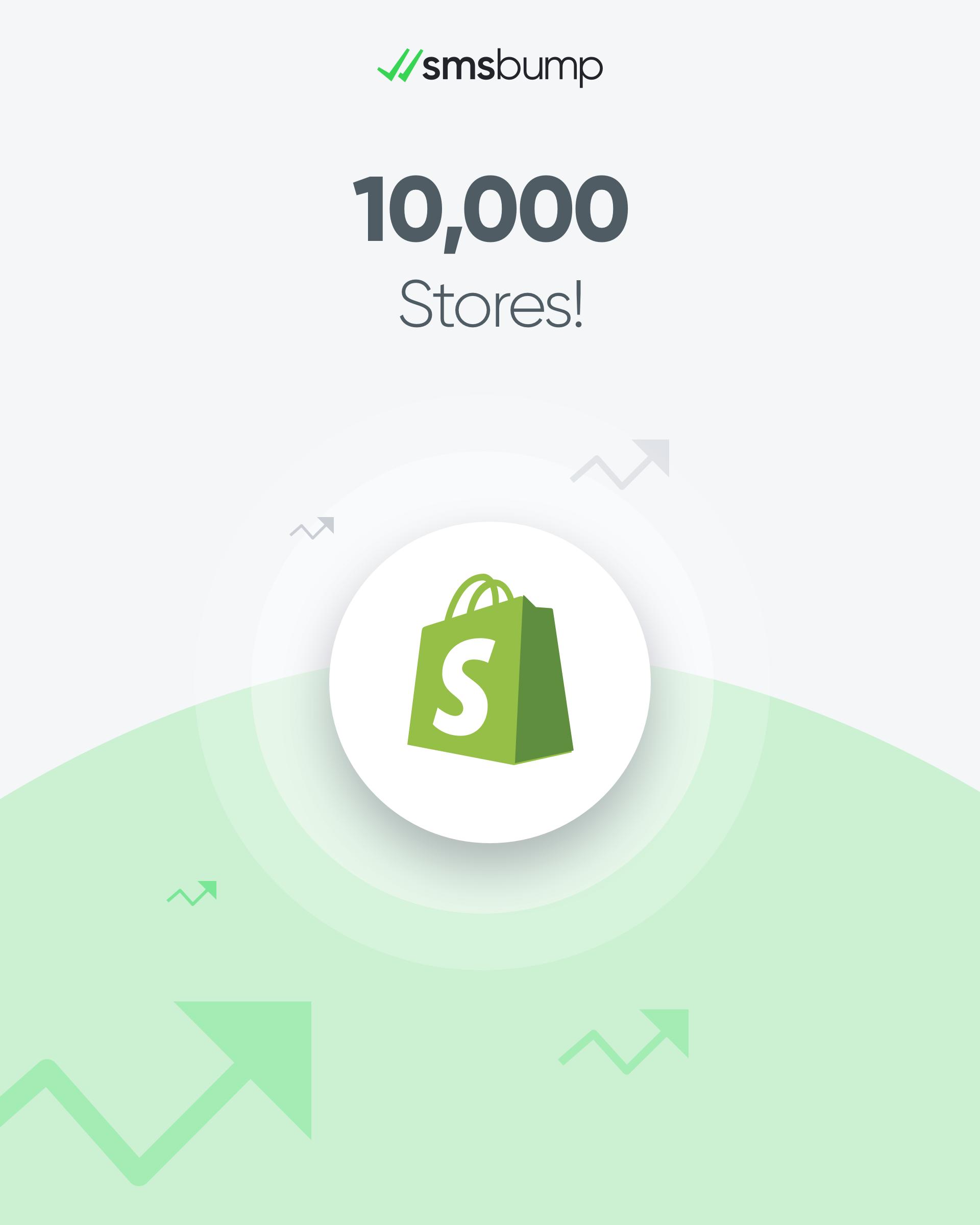 SMSBump Milestone: 10,000 Shopify Stores