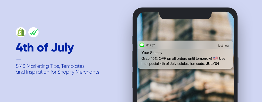 4th of July SMS Marketing Templates for Shopify