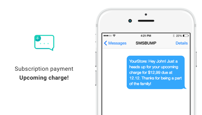 Upcoming ReCharge Payment SMS Automation in Shopify