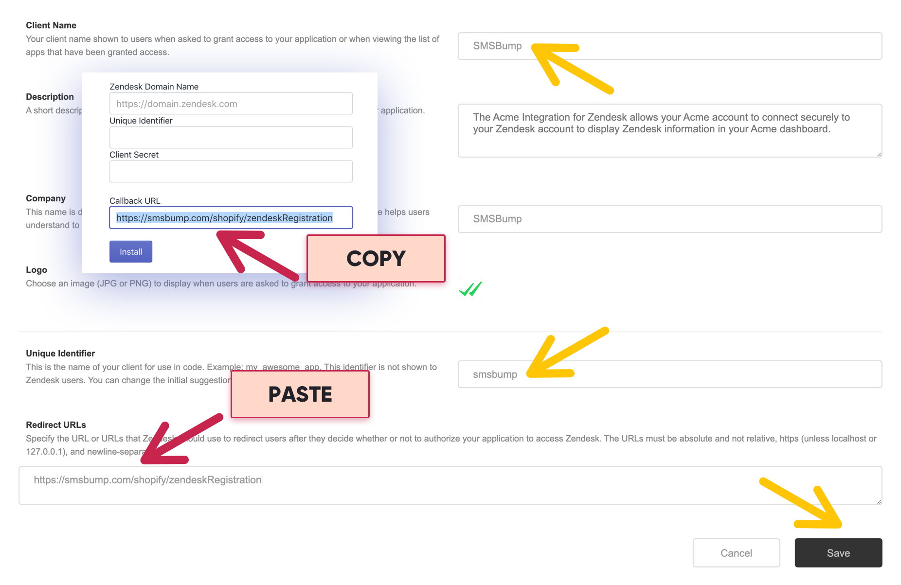 How to Connect SMSBump with ZenDesk to Improve Customer Retention in Shopify